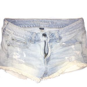 American Eagle Ripped Jean Shorts 2/25